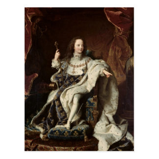 Carte Postale Portrait de Louis XV dans des robes longues de