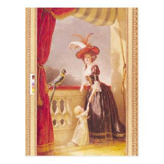Carte Postale Portrait de Louise-Elisabeth De France et elle