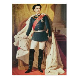 Carte Postale Portrait de Ludwig II de la Bavière dans