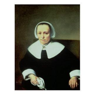 Carte Postale Portrait de Madame avec intellectuel et des