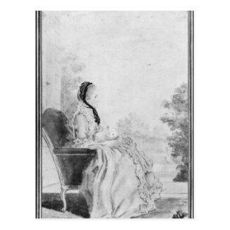 Carte Postale Portrait de Madame du Deffand, 1760