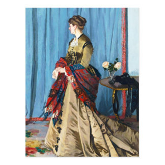 Carte Postale Portrait de Madame Gaudibert Claude Monet