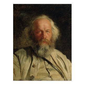 Carte Postale Portrait de Mikhail Alexandrovich Bakunin 1871
