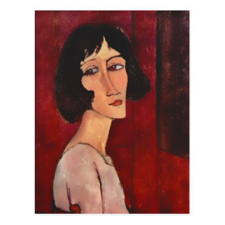 Carte Postale Portrait de Modigliani de Magherita