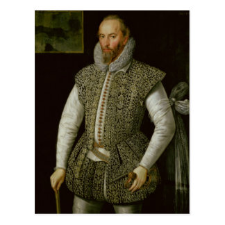 Carte Postale Portrait de monsieur Walter Raleigh, 1598