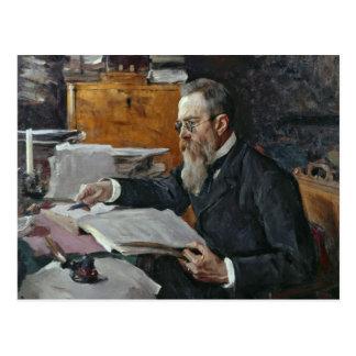 Carte Postale Portrait de Nikolai Andreyevich Rimsky-Korsakov