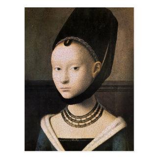 Carte Postale Portrait de Petrus Christus d'une jeune femme