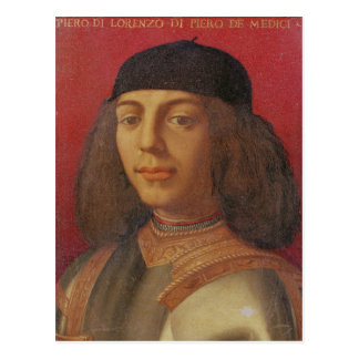 Carte Postale Portrait de Piero di Lorenzo De Medici