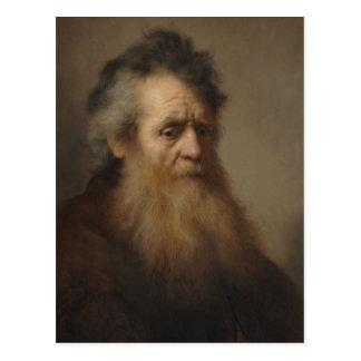 Carte Postale Portrait de Rembrandt d'un vieil homme 1632