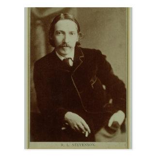 Carte Postale Portrait de Robert Louis Balfour Stevenson (1850-9