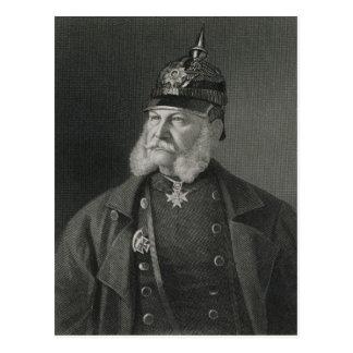 Carte Postale Portrait de roi de William I de la Prusse