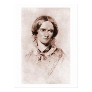 Carte Postale Portrait de sépia de Charlotte Brontë par George