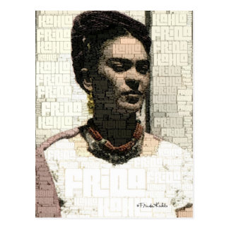 Carte Postale Portrait de textile de Frida Kahlo