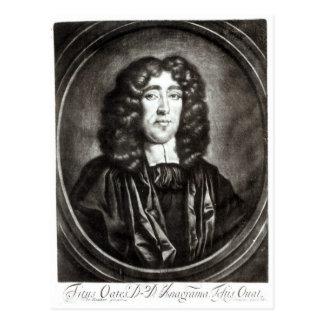 Carte Postale Portrait de Titus Oates gravé par R. Thompson