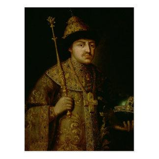 Carte Postale Portrait de tsar Fyodor III Alexeevich
