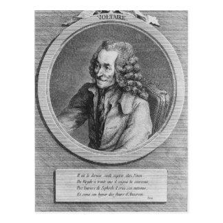 Carte Postale Portrait de Voltaire, d'un dessin