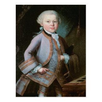 Carte Postale Portrait de Wolfgang Amadeus Mozart