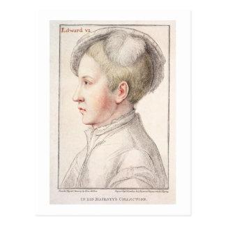 Carte Postale Portrait d'Edouard VI (1537-53) gravé par la