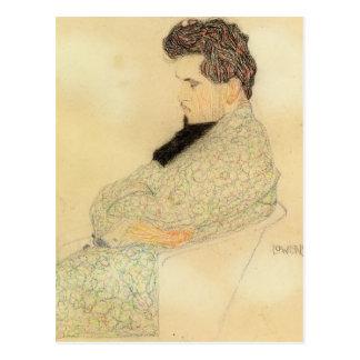 Carte Postale Portrait d'Egon Schiele- d'Arthur Lowenstein