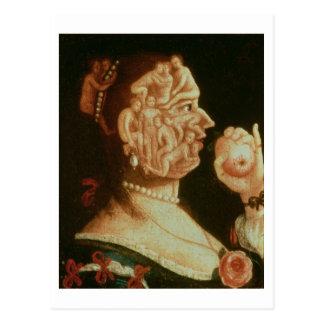 Carte Postale Portrait d'Ève (huile)