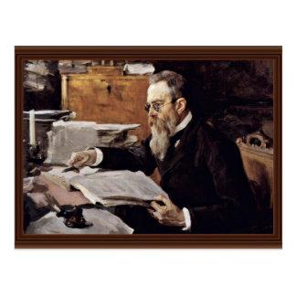 Carte Postale Portrait du compositeur Nikolai Andreyevich