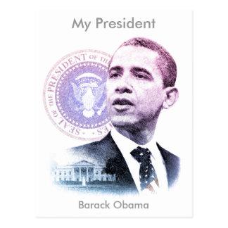 Carte Postale Portrait du Président Barack Obama