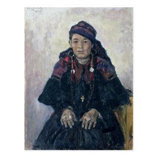 Carte Postale Portrait d'un Cosaque Woman, 1909