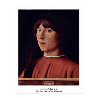 Carte Postale Portrait d'un homme par Antonello DA Messine