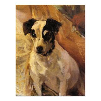 Carte Postale Portrait d'un Jack Russell par Joaquín Sorolla