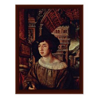 Carte Postale Portrait d'un jeune homme par Holbein Ambrosius