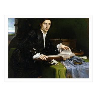 Carte Postale Portrait d'un monsieur dans son étude, 1528-30