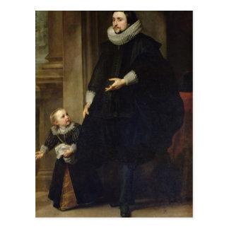 Carte Postale Portrait d'un noble et de son enfant
