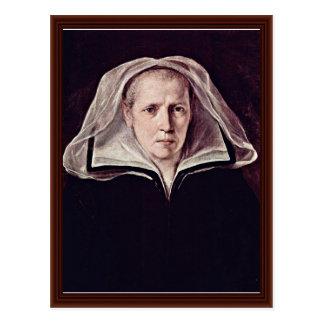 Carte Postale Portrait d'une femme âgée par Reni Guido