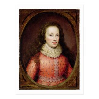 Carte Postale Portrait d'une femme, traditionnellement identifié
