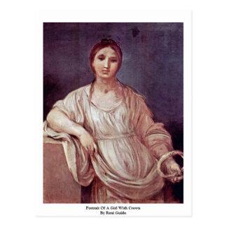 Carte Postale Portrait d'une fille avec la couronne par Reni