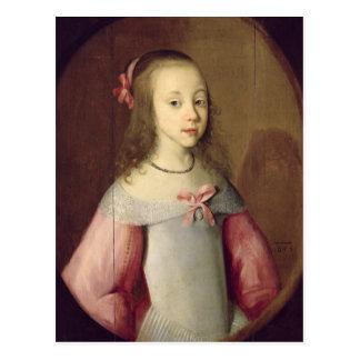 Carte Postale Portrait d'une jeune fille, 1651