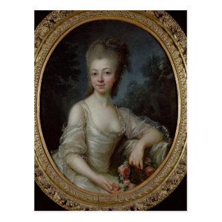 Carte Postale Portrait d'une jeune fille, 1775