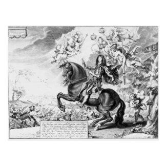 Carte Postale Portrait équestre de Charles II avec des dieux