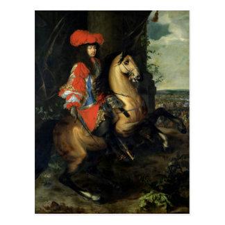 Carte Postale Portrait équestre de Louis XIV