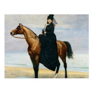 Carte Postale Portrait équestre de Mademoiselle Croizette
