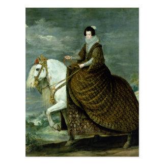 Carte Postale Portrait équestre d'Elisabeth De France