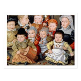 Carte Postale Portrait T33337 d'une mère avec son childre huit