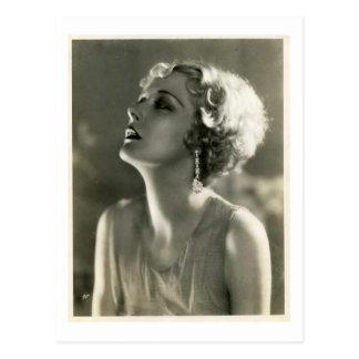 Carte Postale Portrait vintage de femme