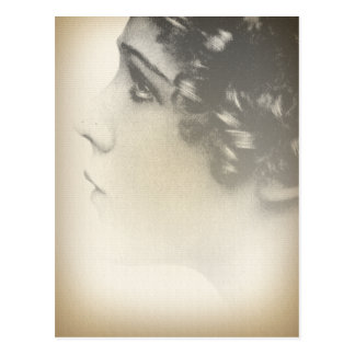Carte Postale Portrait vintage de fille
