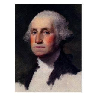 Carte Postale Portrait vintage de président de George Washington