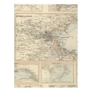 Carte Postale Ports et ports irlandais