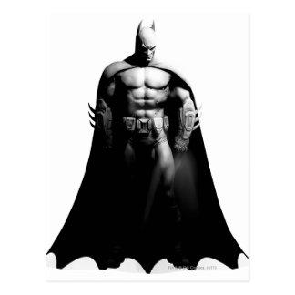 Carte Postale Pose large noire et blanche de la ville | Batman