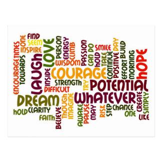 Carte Postale Positivité de motivation des mots #1