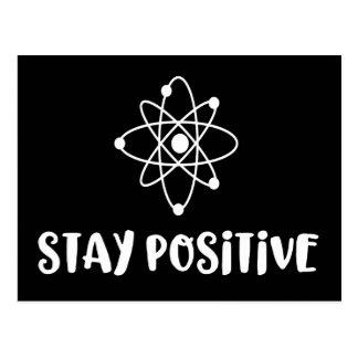 Carte Postale Positivité scientifique drôle positive de séjour
