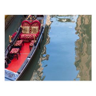 Carte Postale Postacard d'un bateau de gondole dans Venezia,